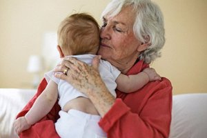 Allowing grandparents to bond with your baby